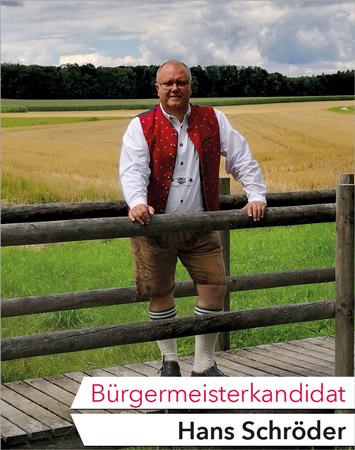 Bürgermeisterkandidat Hans Schröder