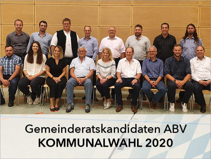 Gemeinderatskandidaten ABV Kommunalwahl 2020