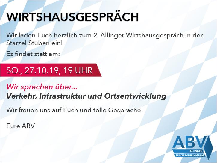 """Wirtshausgespräch """"Verkehr, Infrastruktur und Ortsentwicklung"""""""